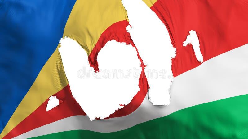 Ragged σημαία των Σεϋχελλών ελεύθερη απεικόνιση δικαιώματος