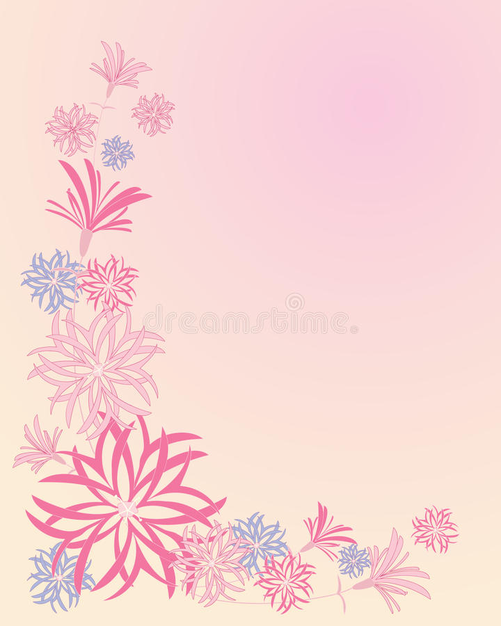 Ragged robin. Abstract background illustration based on ragged robin flowers on a pink background stock illustration