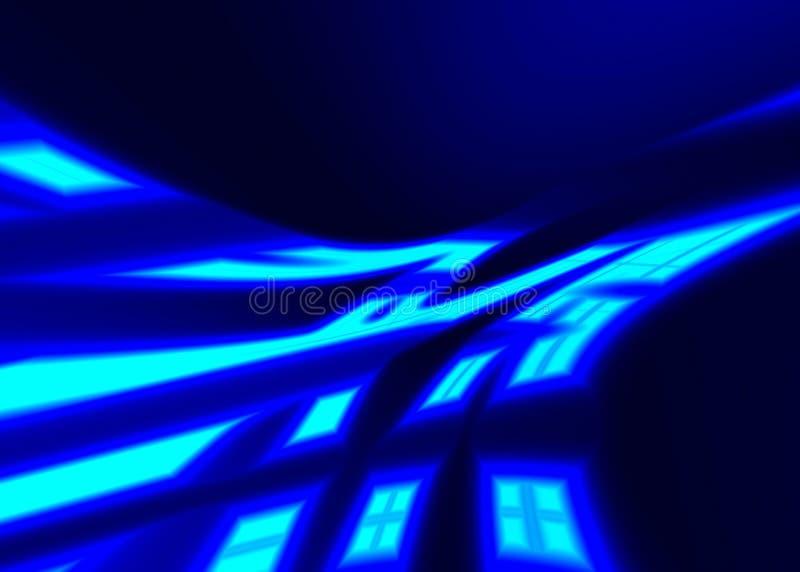 Raggi al neon illustrazione di stock