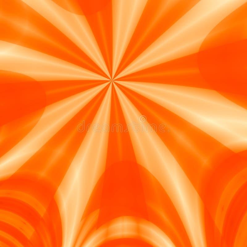 Raggi arancioni illustrazione di stock