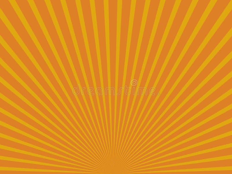 Raggi astratti gialli del sole ENV 10 illustrazione di stock