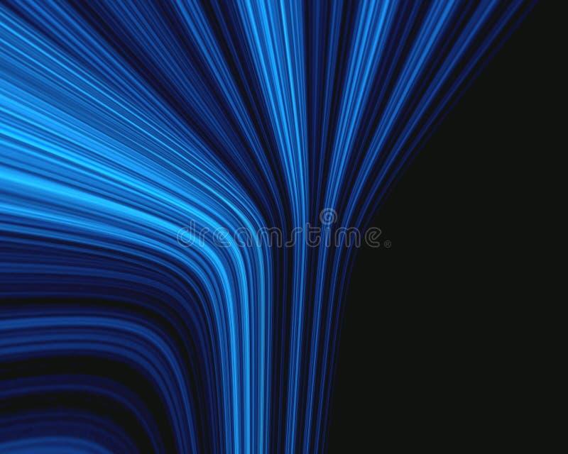 Raggi blu illustrazione vettoriale