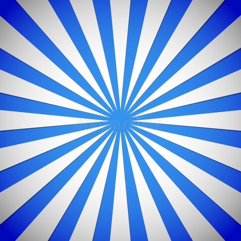 Raggi blu, starburst, fondo dello sprazzo di sole royalty illustrazione gratis