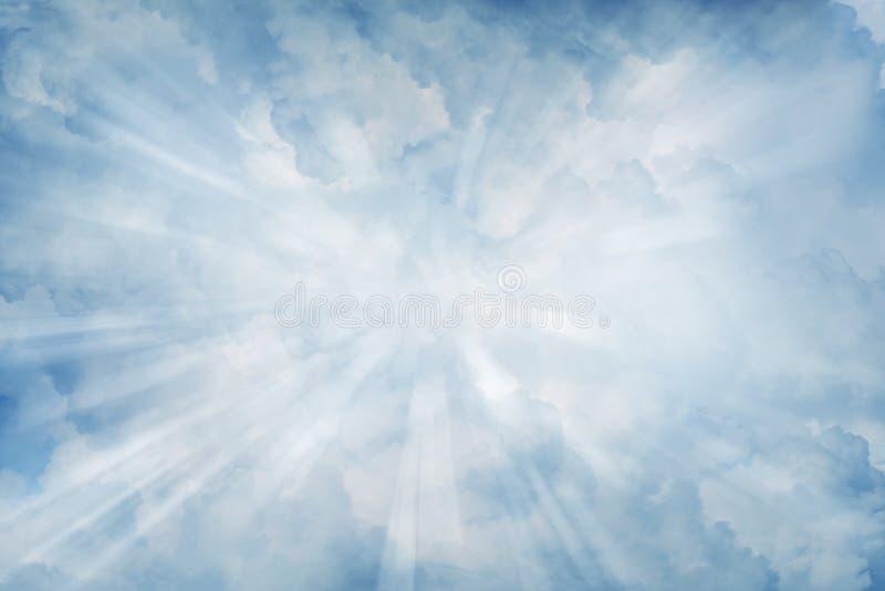 Raggi in cielo immagine stock libera da diritti