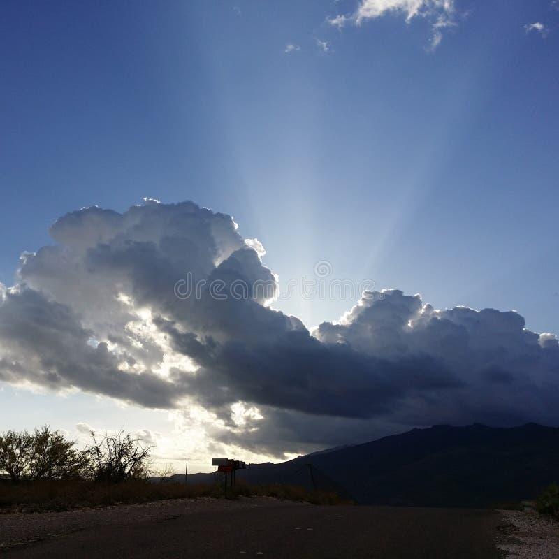 Raggi della nuvola fotografie stock libere da diritti