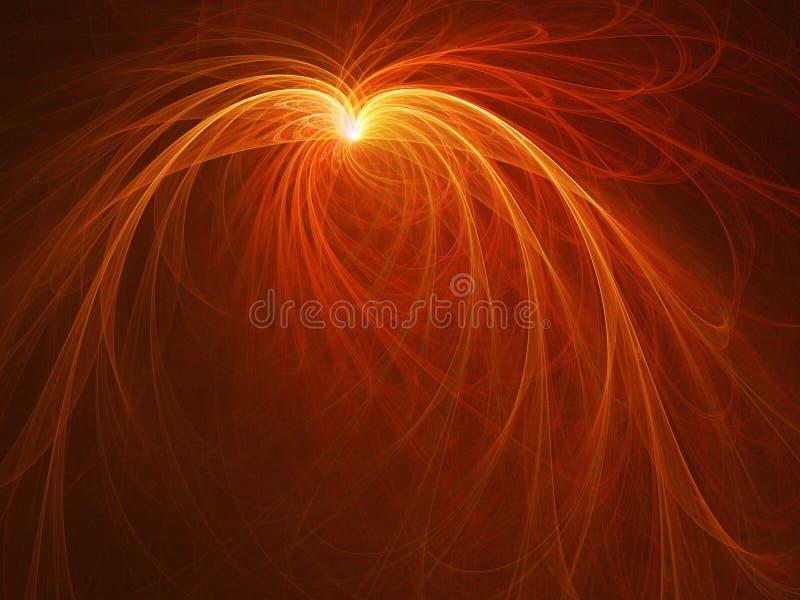 Raggi della piuma del fuoco illustrazione vettoriale