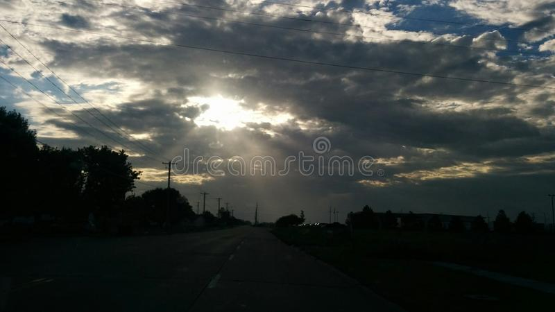 Raggi di mattina immagini stock