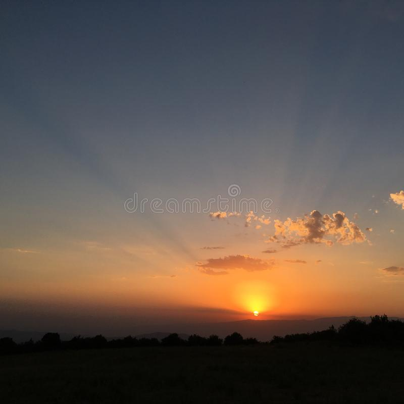 Raggi di Sun fotografia stock
