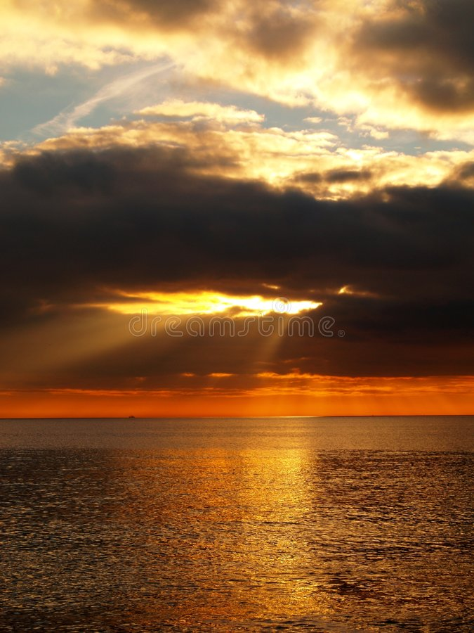 Raggi di Sun immagine stock
