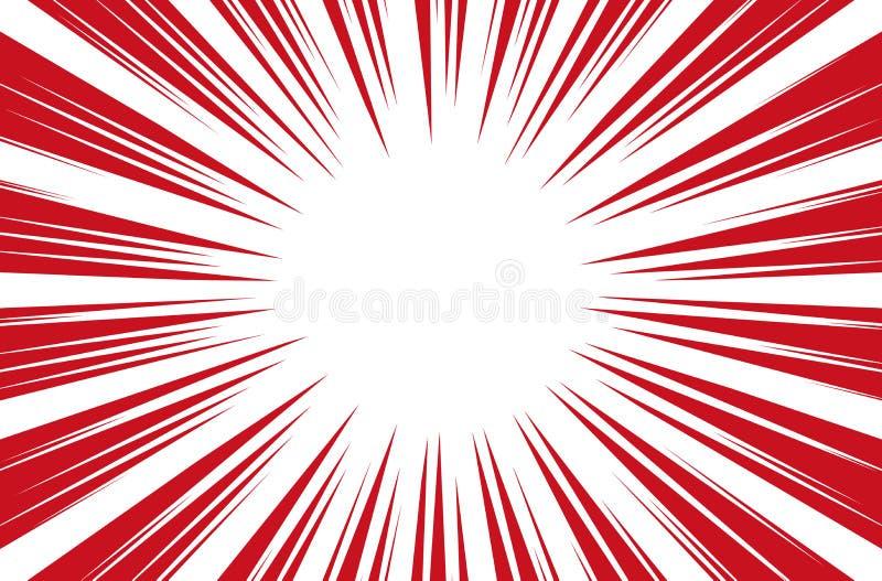 Raggi di Sun per il vettore radiale del fondo dei libri di fumetti illustrazione di stock