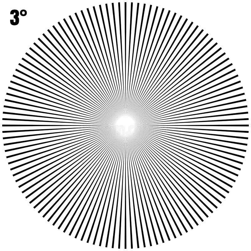 Raggi geometrici circolari astratti di scoppio su bianco Vettore di ENV 10 illustrazione di stock