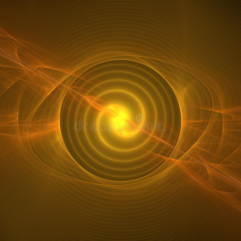 Raggi luminosi arancio illustrazione vettoriale