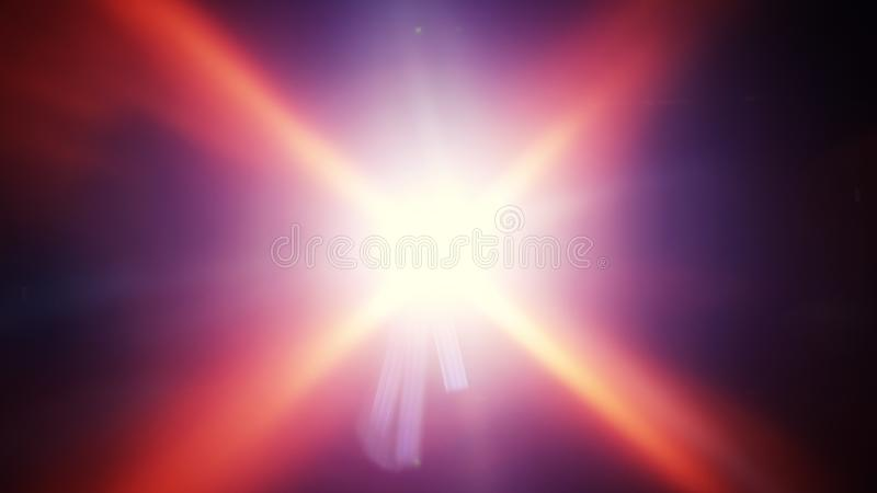 Raggi luminosi e chiarori radiali della lente royalty illustrazione gratis