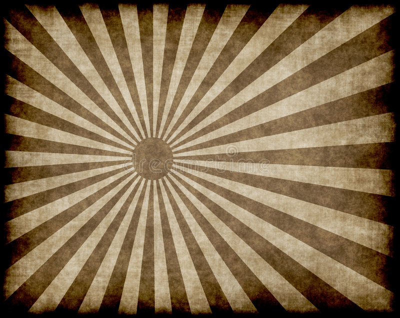 Raggi o fasci del sole di Grunge illustrazione di stock