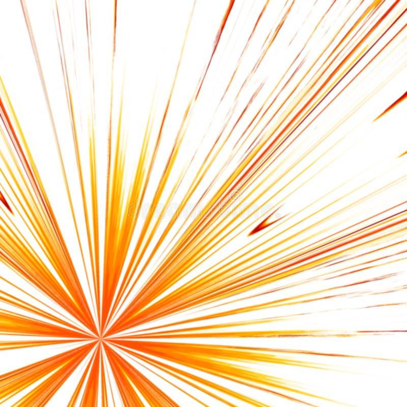 Raggi rossi e gialli royalty illustrazione gratis
