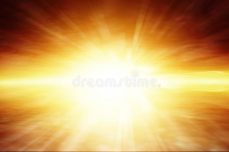 Raggi soleggiati luminosi del cielo fotografia stock