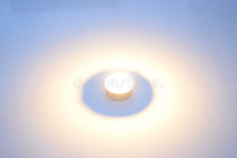 Raggio di lume di candela fotografie stock libere da diritti