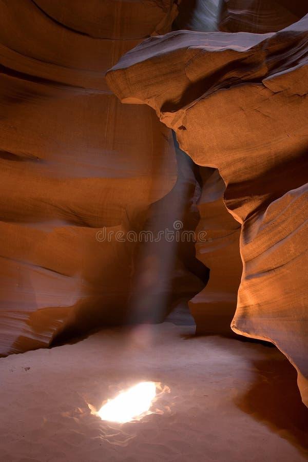Raggio di sole del canyon della scanalatura fotografia stock libera da diritti