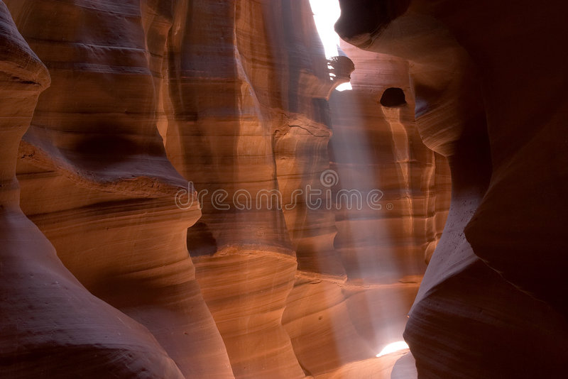 Raggio di sole del canyon della scanalatura fotografia stock