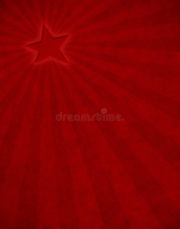 Raggio Di Sole Rosso Della Stella Immagine Stock