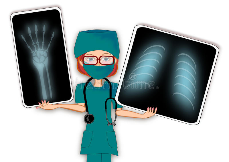 Raggio femminile di medico x illustrazione di stock