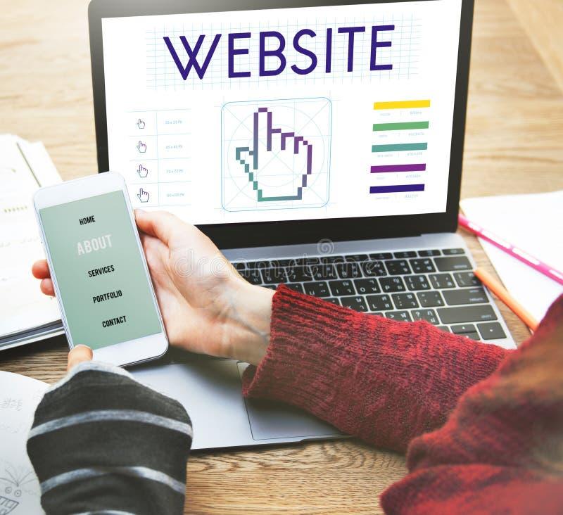 Raggiro di tecnologia del collegamento a Internet delle comunicazioni globali del sito Web fotografie stock
