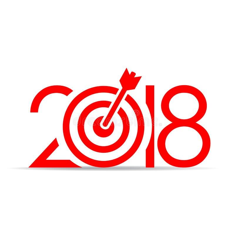 Raggiunga il vostro nuovo anno di scopi nel 2018 illustrazione vettoriale