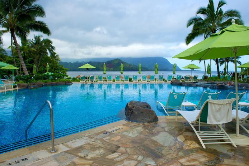 Raggruppamento al ricorso su Kauai, Hawai fotografia stock libera da diritti