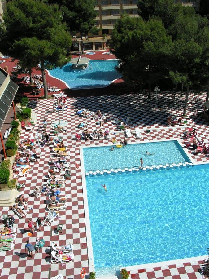Raggruppamento tropicale dell'hotel immagini stock