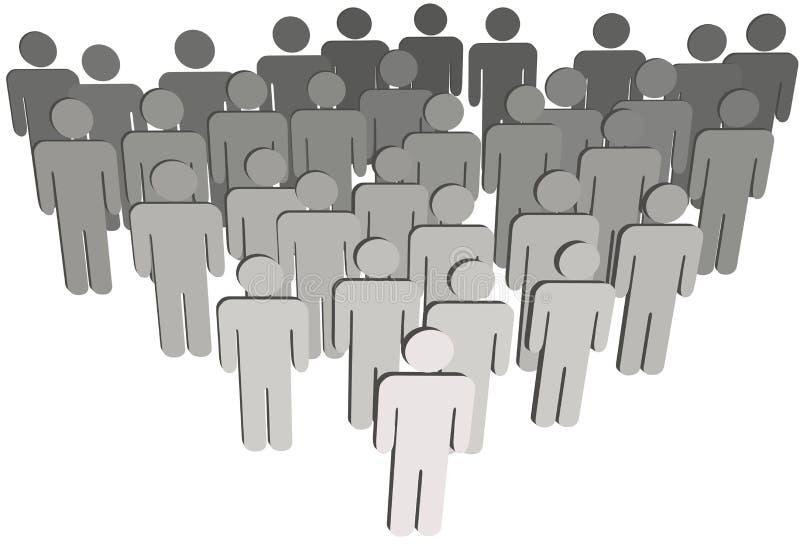 Raggruppi la gente di simbolo della popolazione 3D dell'azienda su bianco royalty illustrazione gratis