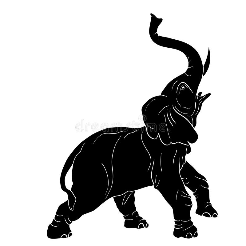 Raging elephant vector illustration