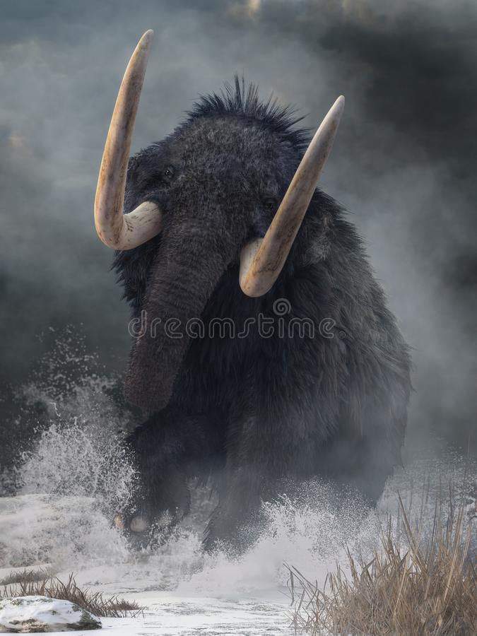 Raging Mammoth royalty free illustration