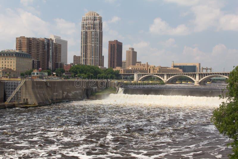 Raging Mississippi River Stock Images