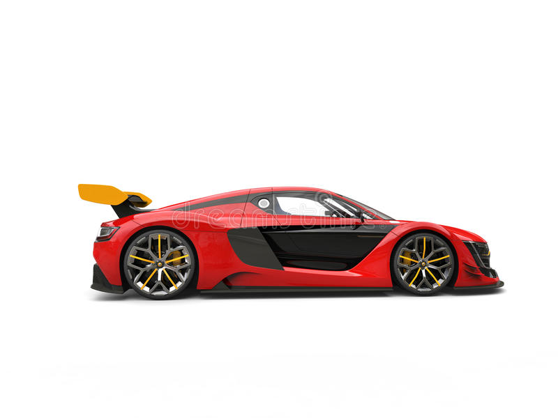 Race Car Side View Raging Red Race Car Wi...