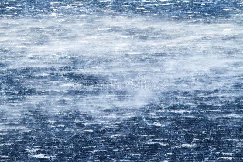Raging sea with furious waves stock images