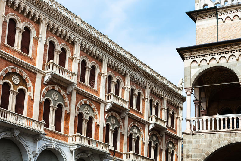 Ragione di della di palazzo e del palazzo nella città di Padova immagini stock
