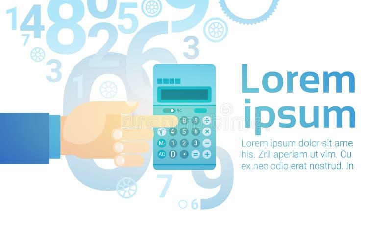 Ragioniere di attività bancarie di Hand Hold Calculator della persona di affari illustrazione di stock