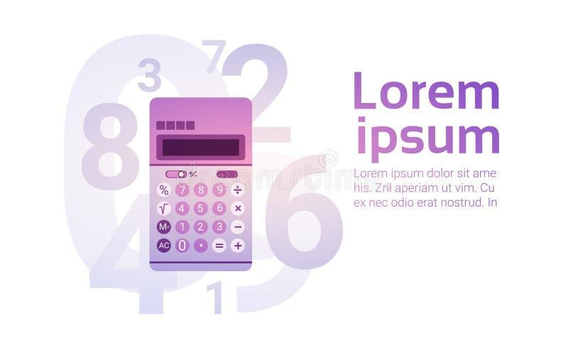 Ragioniere Finance Business di attività bancarie del calcolatore illustrazione di stock