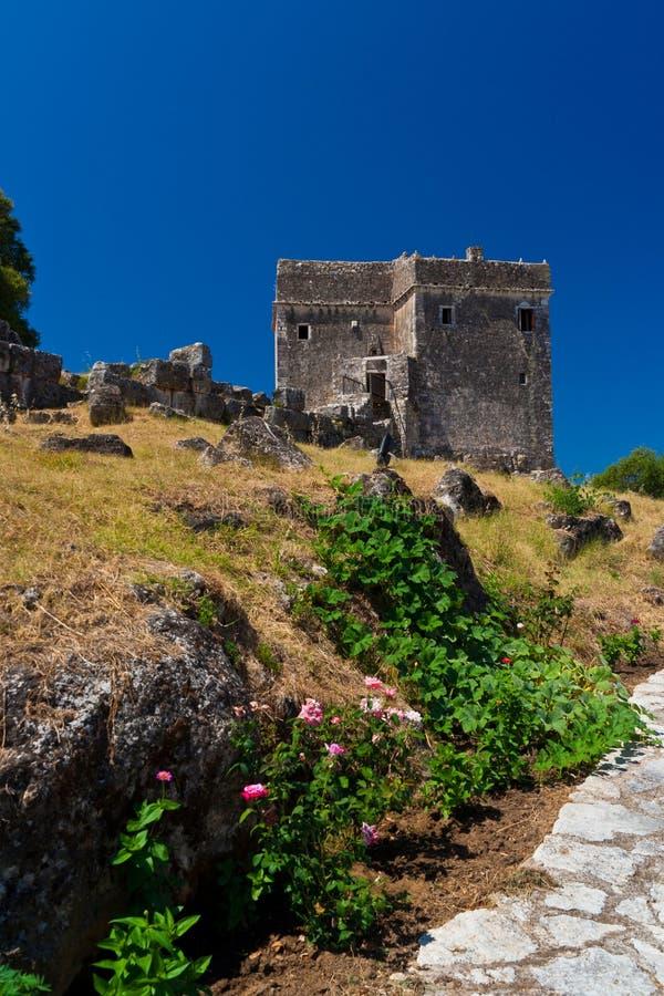 Ragios medieval tower. Igoumenitsa, Greece royalty free stock photos
