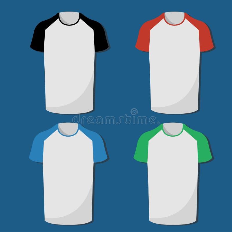 Raglan de reeks van de t-shirtillustratie vector illustratie
