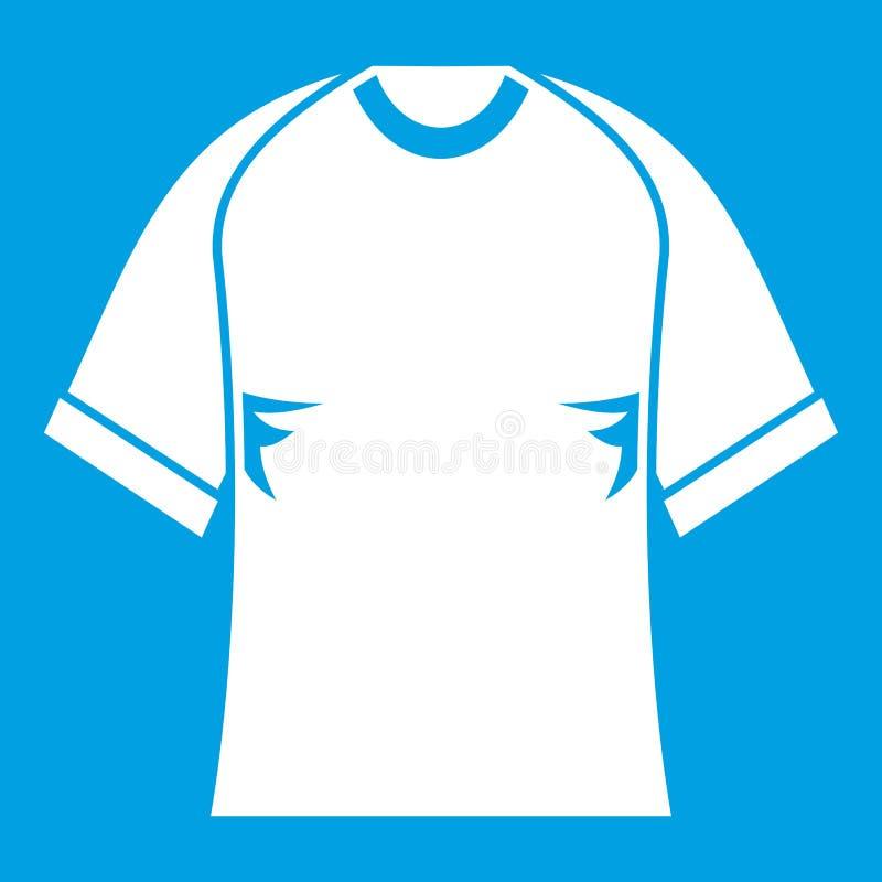 Raglan het wit van het t-shirtpictogram royalty-vrije illustratie