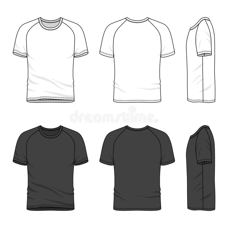 Raglan kokert-shirt stock illustratie