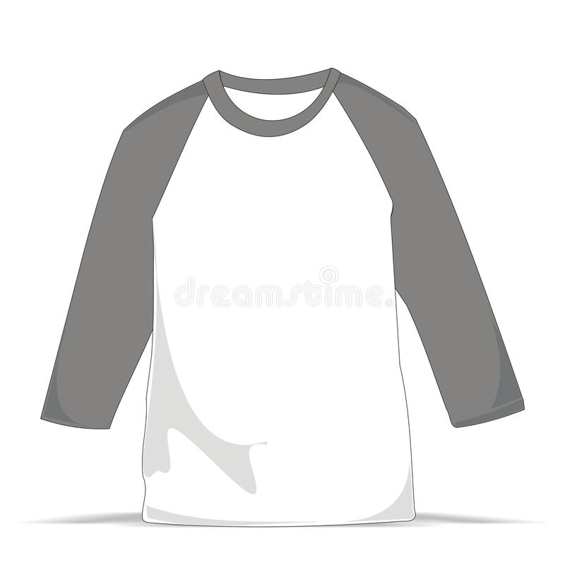 Raglan malplaatjeoverhemd vector illustratie