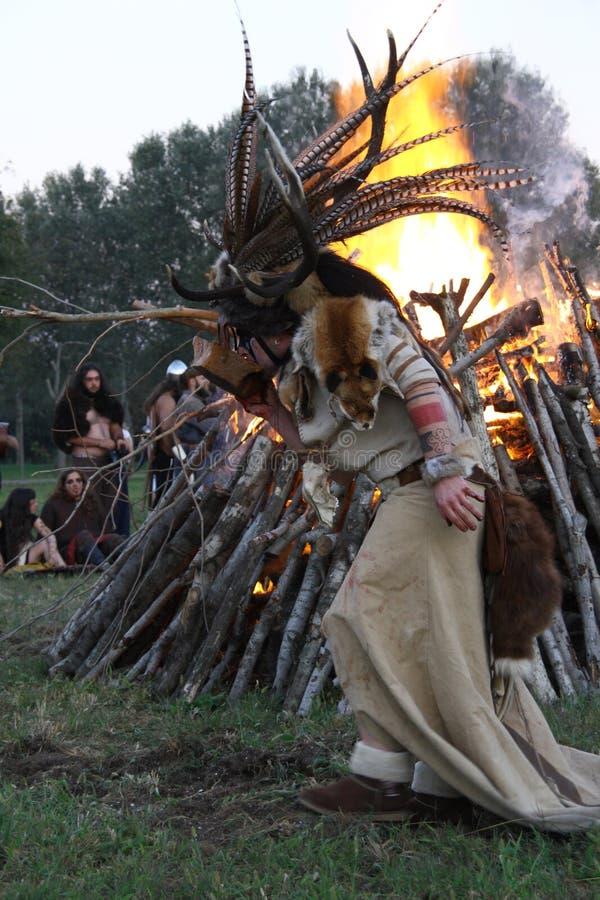 Ragnarok - de Viking bröderna - 28-30 September 2018 - Casirate D ` Adda - BG - Italien royaltyfri foto