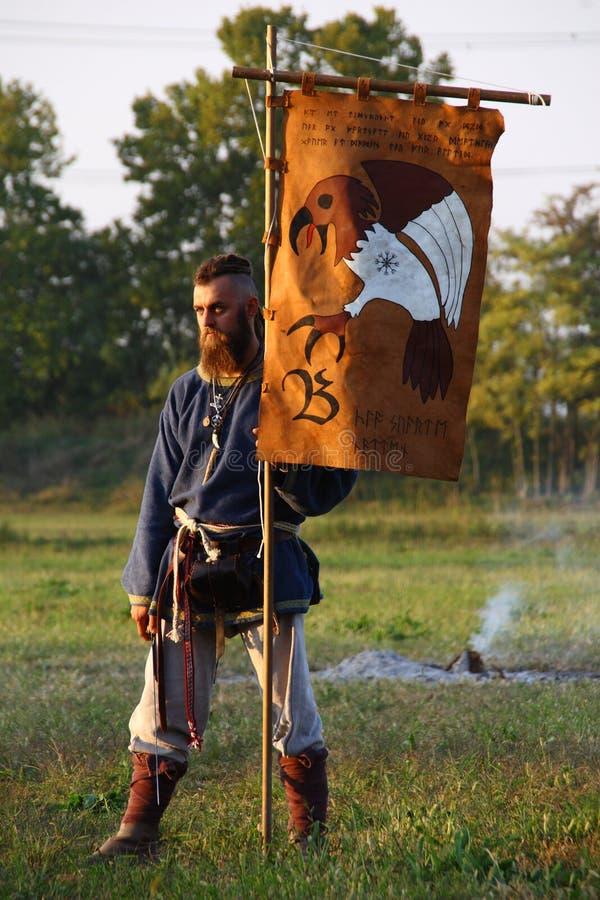 Ragnarok - de Viking bröderna - 28-30 September 2018 - Casirate D ` Adda - BG - Italien arkivfoto