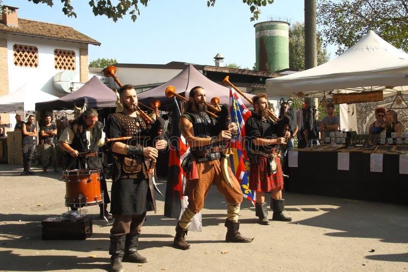 Ragnarok - de Viking-broers - 28-30 September 2018 - Casirate D ` Adda - BG - Italië stock foto's