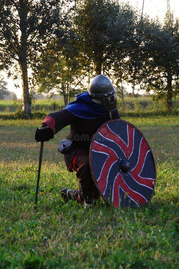 Ragnarok - de Viking-broers - 28-30 September 2018 - Casirate D ` Adda - BG - Italië stock fotografie