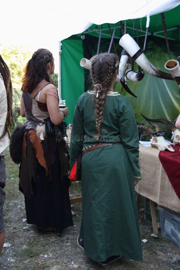 Ragnarok - de Viking-broers - 28-30 September 2018 - Casirate D ` Adda - BG - Italië royalty-vrije stock afbeelding