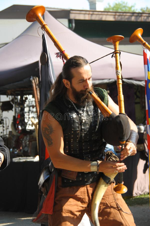 Ragnarok - irmãos de Viking - os 28-30 de setembro de 2018 - ` Adda de Casirate d - BG - Itália foto de stock