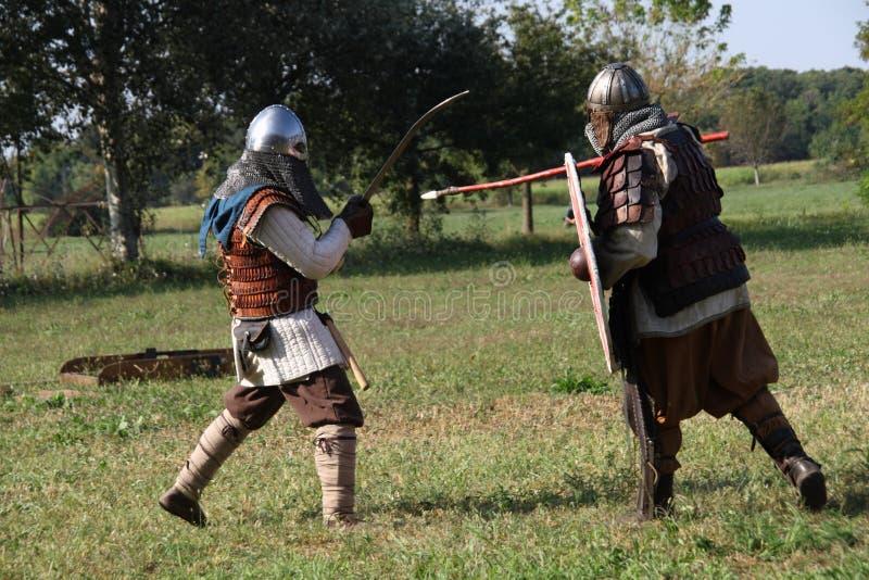 Ragnarok - irmãos de Viking - os 28-30 de setembro de 2018 - ` Adda de Casirate d - BG - Itália foto de stock royalty free